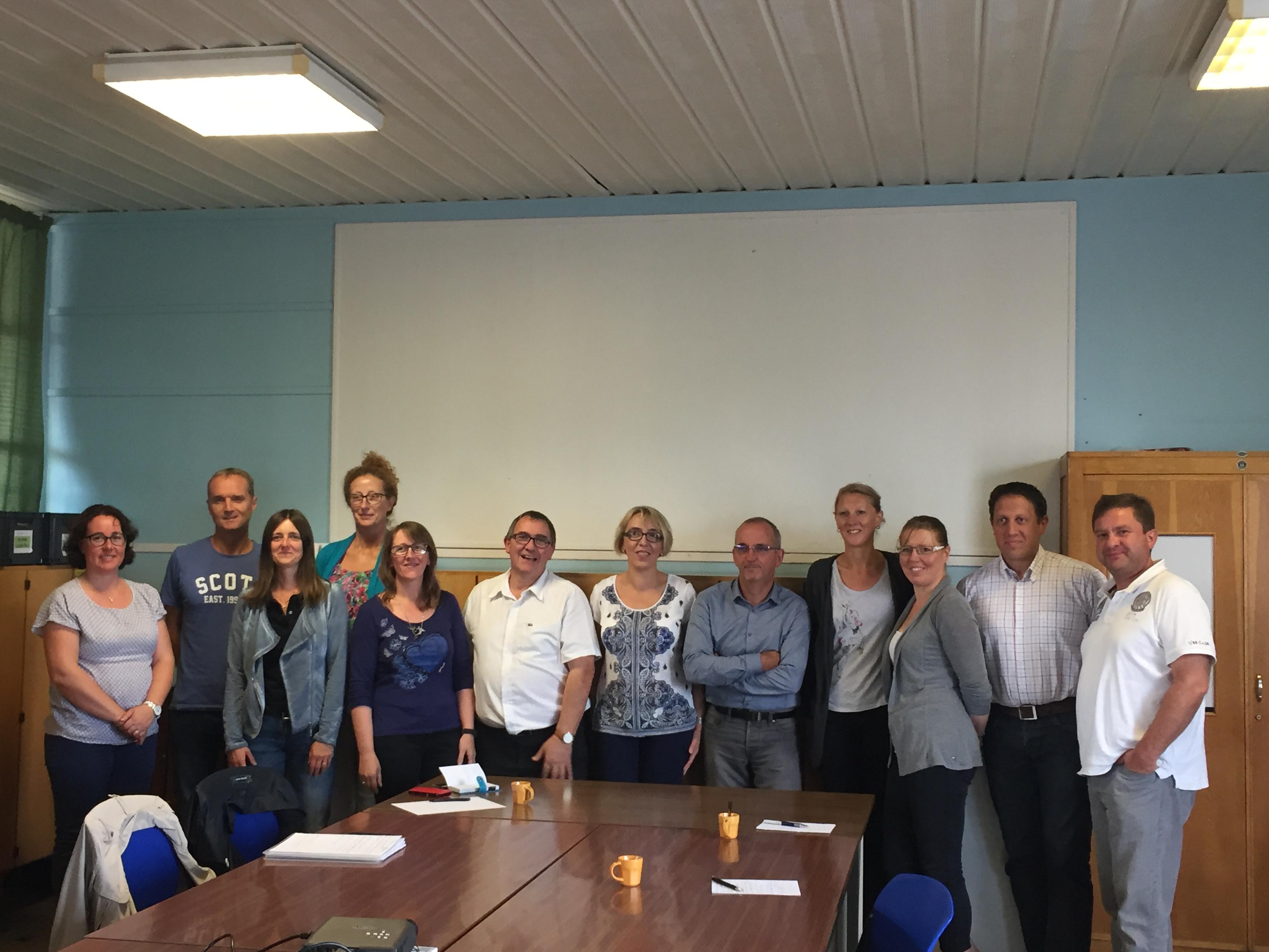Les membres du bureau réunis le 17 septembre 2016